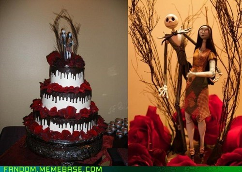 cake Fan Art jack noms sally the nightmare before chri the nightmare before christmas wedding - 6264713216