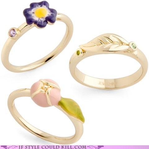 cool accessories flowers rings - 6264713984