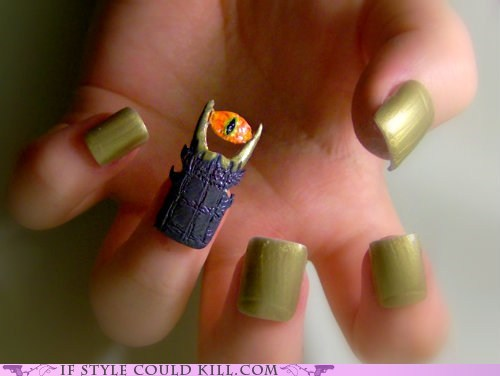 cool accessories Lord of the Rings manicure nails sauron - 6264805376