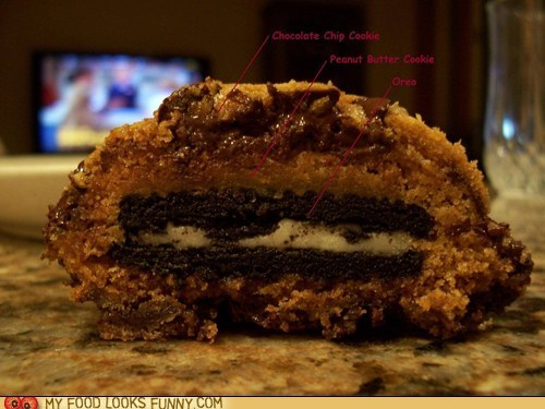 chocolate chip cookies Inception oreo peanut butter stuffed