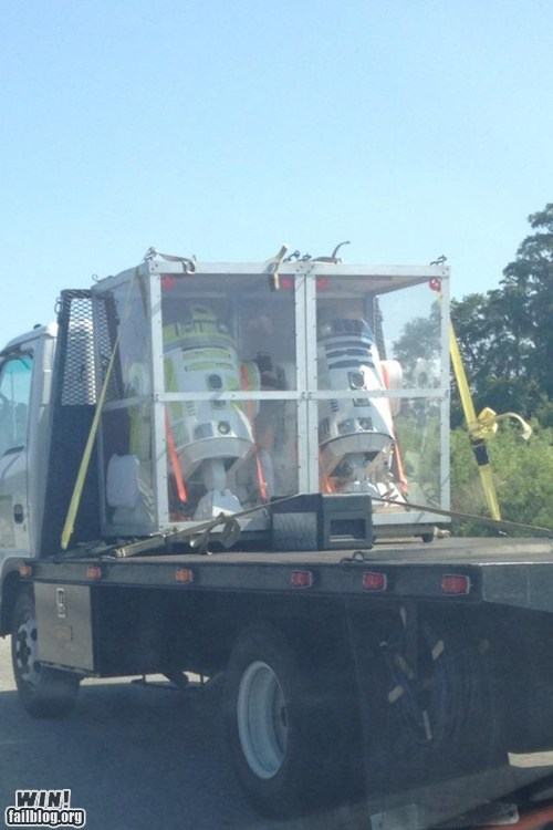 heavy load,load,nerdgasm,r2-d2,star wars,truck