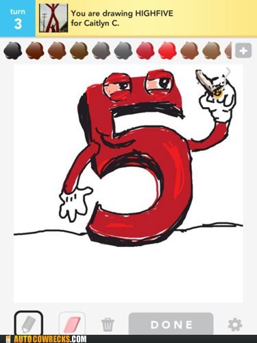 draw something five high five I see what you did there towely