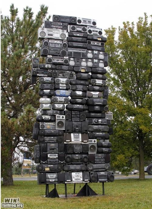 art boom box sculpture stereo - 6265051392
