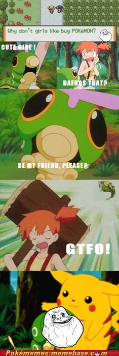 caterpie,comic,forever alone,gtfo,Sad