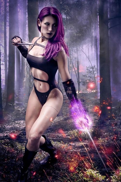 cosplay marvel psylocke xmen - 6265779968