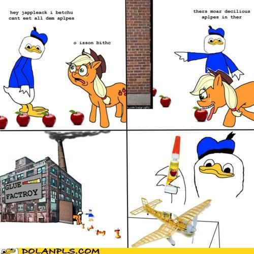apple jack apples dolan glue glue factory my little pony Rage Comics - 6265987072
