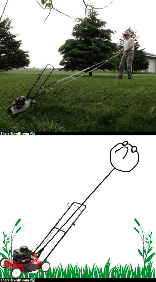 extension lawn mower