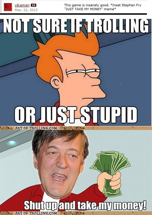cant tell if fry Stephen Fry - 6266537472