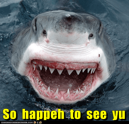 happy happy to see you less mouth scary shark smiling teeth - 6267150592