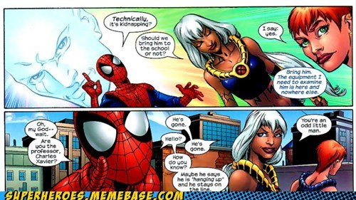 scumbag Spider-Man Straight off the Straight off the Page strange xavier - 6267362560