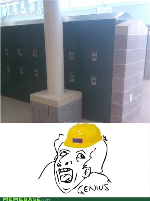 bad luck brian,genius,locker,Memes