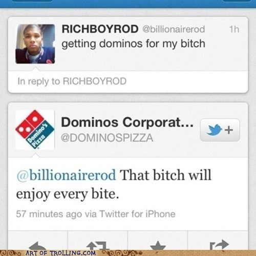 dominos pizza twitter - 6268525824