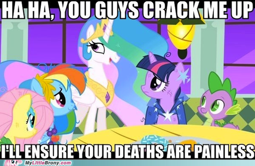 Death,funny,painless,princess celestia,the internets