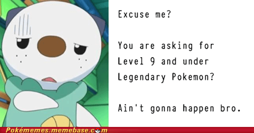 GTS legendaries level 9 and under oshawott the internets