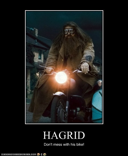 HAGRID Don't mess with his bike!