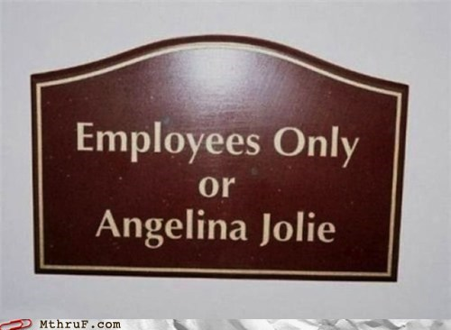 Angelina Jolie employees only scarlett johansson