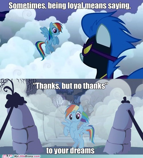 comics dreams loyalty rainbow dash thanks - 6271219200