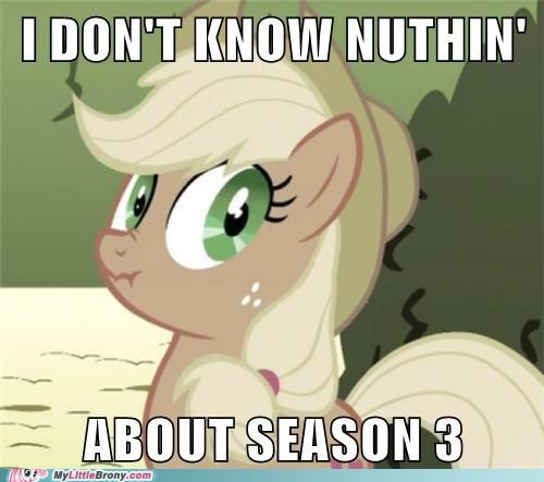 applejack appliejack meme season 3 - 6271238912