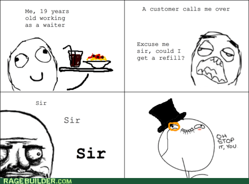 sir,me gusta,oh stop it you,Rage Comics,waiter