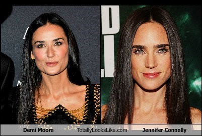actor,celeb,demi moore,funny,jennifer connelly,TLL