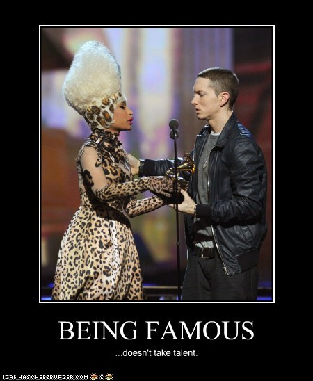 celeb,demotivational,eminem,funny,Music,nicki minaj,pop,rap