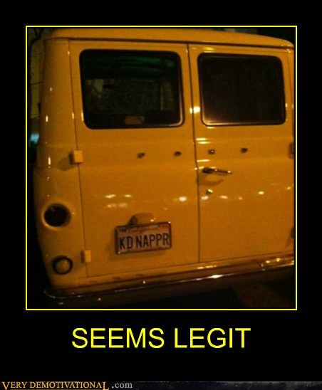 hilarious,kidnapper,license plate,seems legit,van