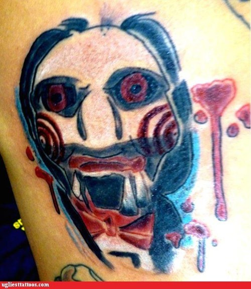 jeff the killer,movie tattoo,saw