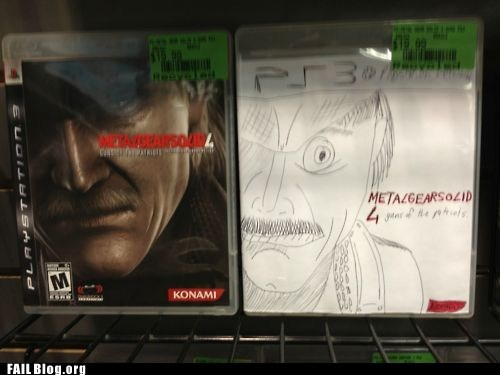 cover art Metal Gear Solid 4 video game - 6272948480