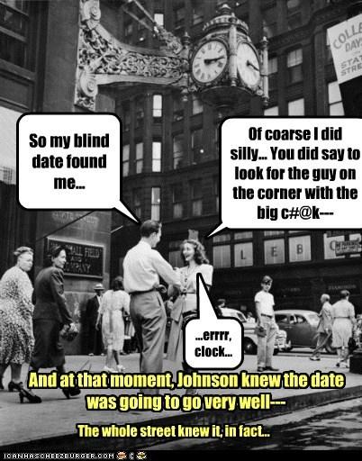 blind date,clock,date