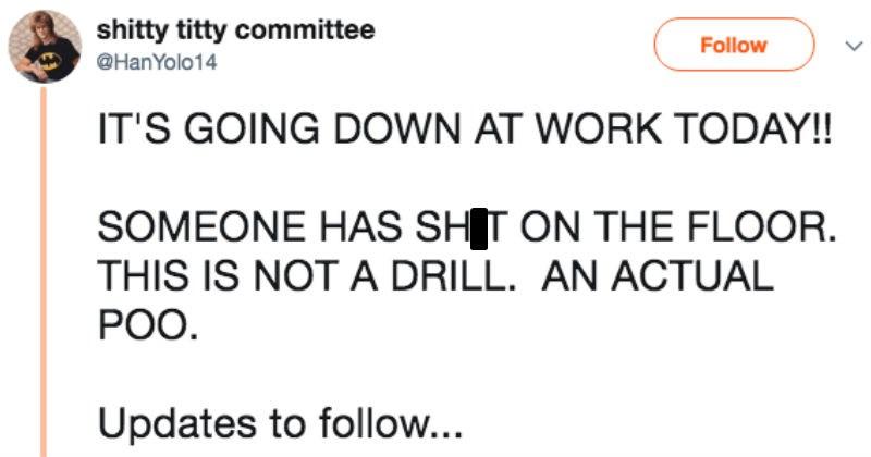twitter jobs work coworkers live tweet ridiculous - 6273029