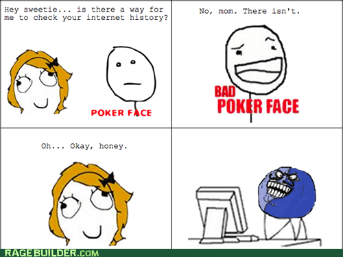 bad poker face i lied internet history Rage Comics - 6273152256