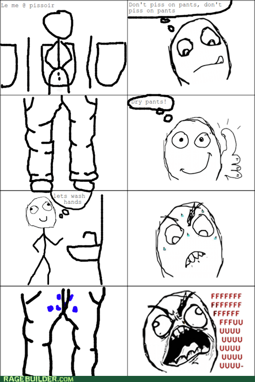 fu guy,peetimes,Rage Comics,wet