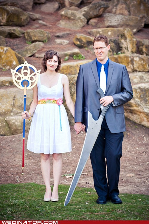 cosplay,final fantasy,funny wedding photos,geek,tidus,yuna
