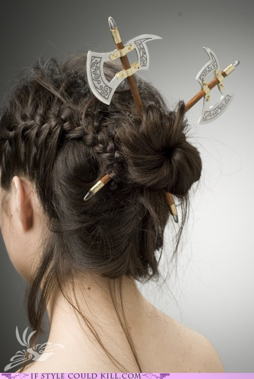 axes cool accessories hair weapons - 6273345024