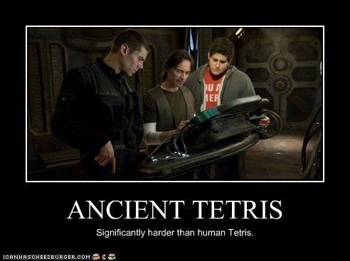 ANCIENT TETRIS Significantly harder than human Tetris.