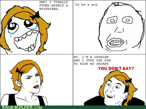 lesbonics Rage Comics relationships you dont say