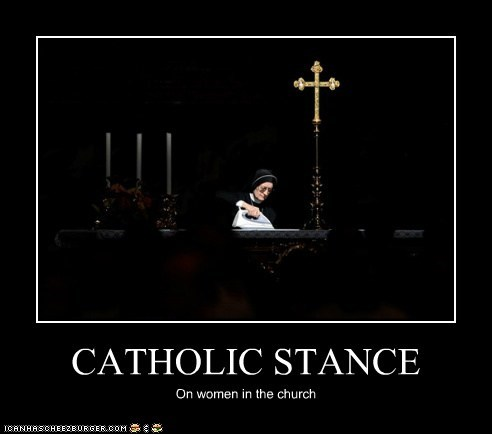 CATHOLIC STANCE On women in the church