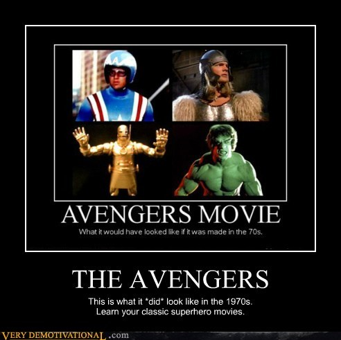 THE AVENGERS This is what it *did* look like in the 1970s. Learn your classic superhero movies.