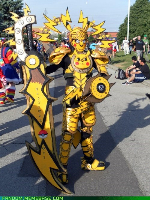 armor,cosplay,fandom,pikachu,Pokémon