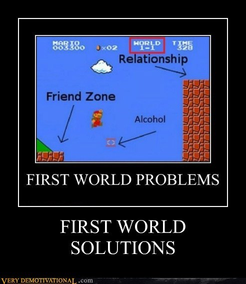 first world,hilarious,mario,solutions