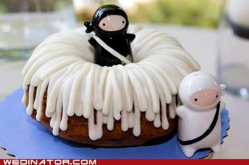 Ninja bundt wedding cake!