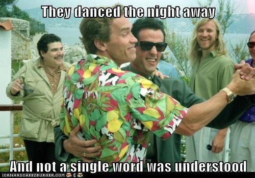 actor Arnold Schwarzenegger celeb funny Sylvester Stallone - 6274447104