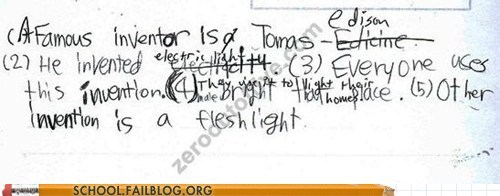 electricity fleshlight inventors thomas edison typos