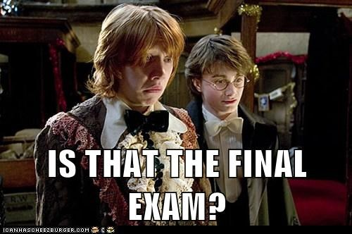 Daniel Radcliffe final exam harry Harry Potter Ron Weasley rupert grint Sad scared worried - 6274926592