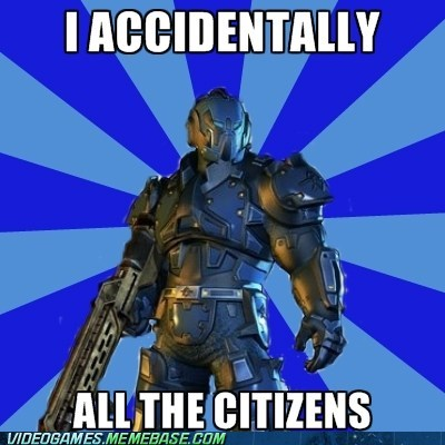 accidentally,collateral damage,crackdown 2,meme