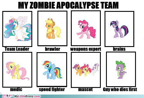 hating mane six meme spike the internets zombie apocalypse - 6275246592