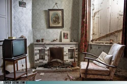 chair fireplace TV window - 6275346944