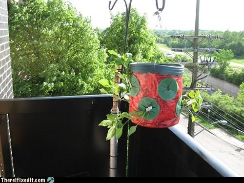 balcony deck garden pipe porch pvc pipe satellite dish vegetables wood - 6275587840