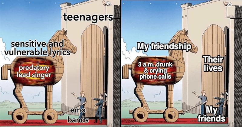 Funny and dank trojan horse memes.