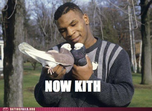 mike tyson,now kiss,now kith,pigeons